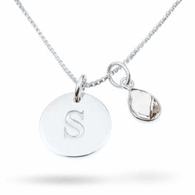 Syster P – Set, Bokstavsberlock & bergkristall med halskedja
