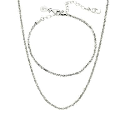 CU Jewellery – Roof Plain set, silver
