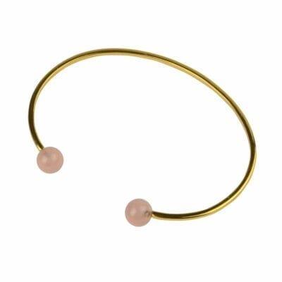 Syster P – Planet bangle armband, guld/rosenkvarts