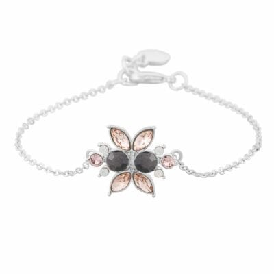 Wing Chain Armband, silver/rosa