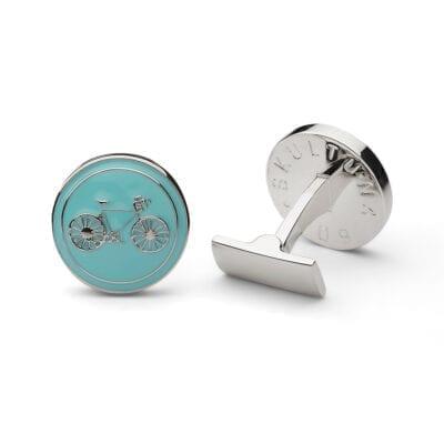 Skultuna – Manschettknappar Themocracy Silver, blå