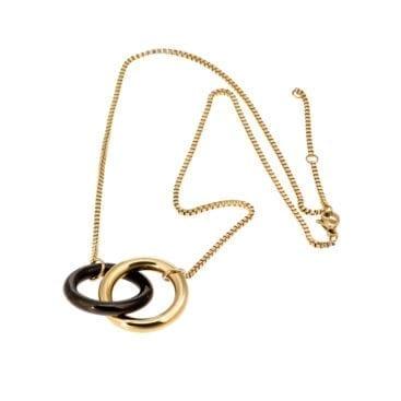 Ingnell Jewellery – Alexi Halsband, guld/svart