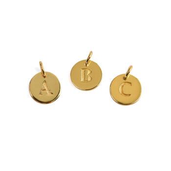 Syster P – Beloved Mini Bokstavsberlock A-Ö, guld
