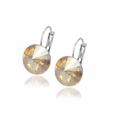 Smyckendahls – Kristallörhängen Annie, Champagne blizz