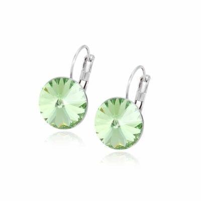 Smyckendahls – Kristallörhängen Annie, Misty green