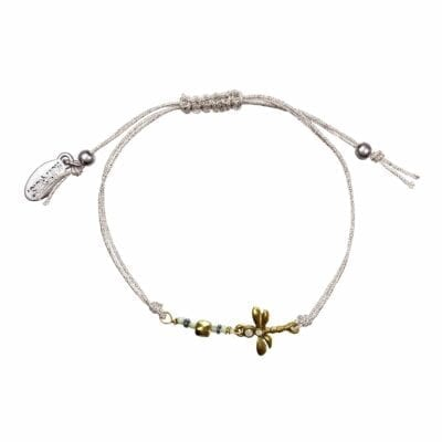 Hultquist – Dragonfly armband, silver/guld
