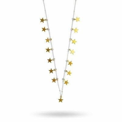 Hultquist – Star halsband, silver/guld