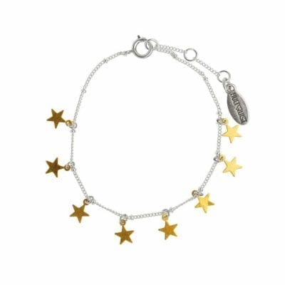 Hultquist – Star armband, silver/guld