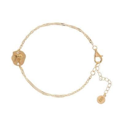 CU Jewellery – Two Elephant armband, guld