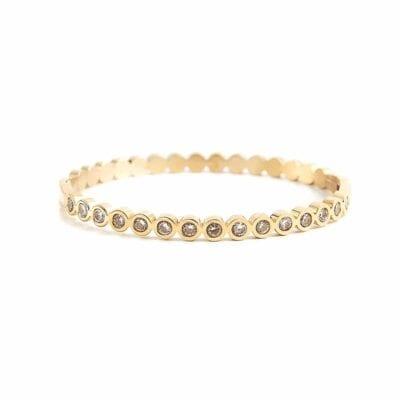 By Jolima – Isa Crystal armband, guld/kristall