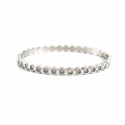 By Jolima – Isa Crystal armband, silver/kristall