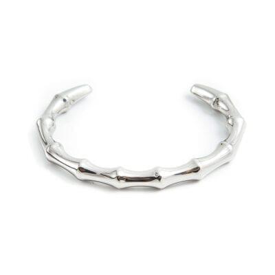 By Jolima – Bamboo armband, silver
