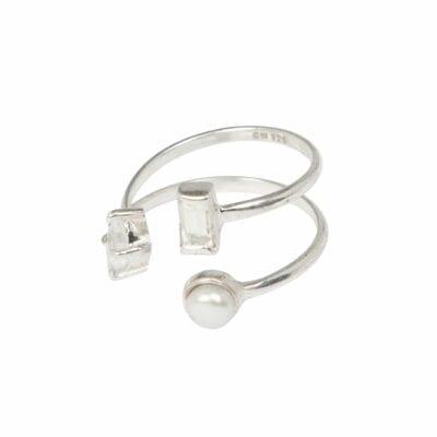 Cornelia Webb – Refined Open Ring XL, silver