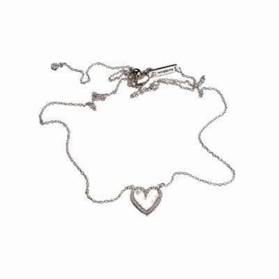 Kumkum – Heart halsband, silver