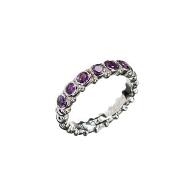 Kumkum – Pretty Amethyst Ring, silver