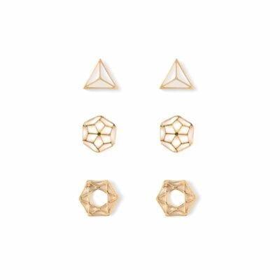 Orelia – Elements Multi pack örhängen, guld
