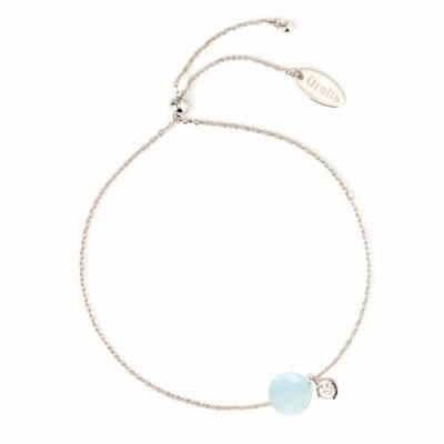 Orelia – Faceted Stone Armband, blå opal