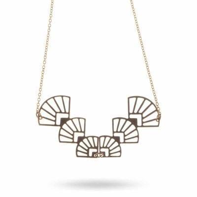 Pendulum – Fan halsband, guld