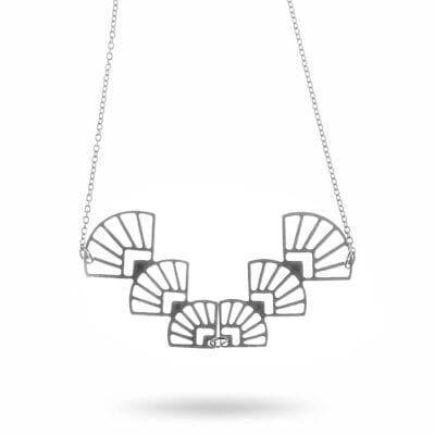 Pendulum – Fan halsband, silver