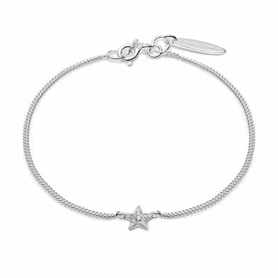 Isabel Lennse – Mini Star White Diamond armband, silver