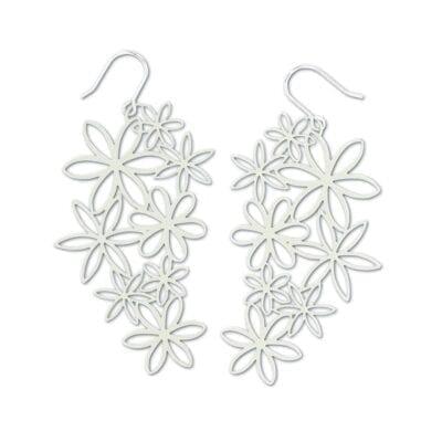 RAS – Flor Suelta örhängen, silver