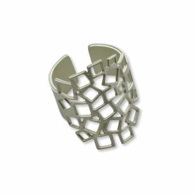 RAS – Cuadrados ring, silver