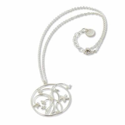 RAS – Flores halsband, silver