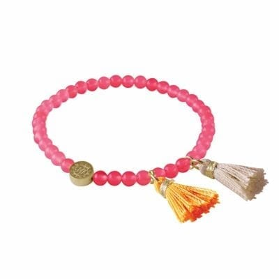 Tatun armband guld/rosa jade