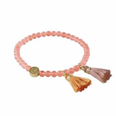 Tatun armband guld/korall