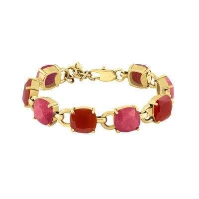 Dyrberg/Kern – Sinead armband, rött/guld