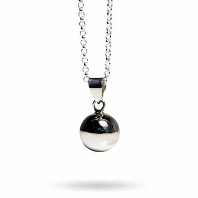 Kalas Smycken – Bola mini gravidhalsband, silver
