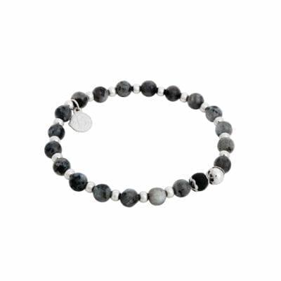 By Billgren – Beadsarmband Jaspis, grått