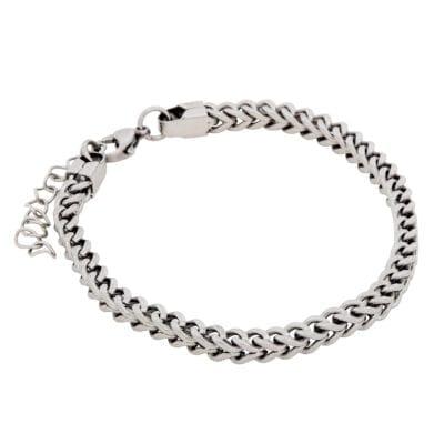 By Billgren – Pansarlänk armband, stål