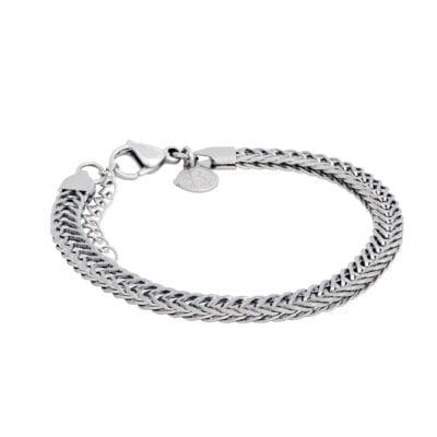 By Billgren – Valsad pansarlänk armband, stål