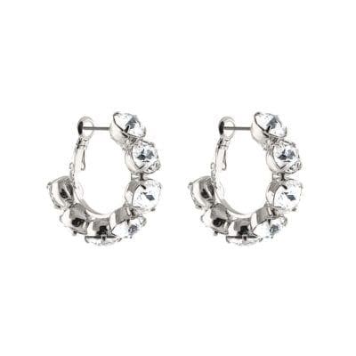 Snö of Sweden – Key ring örhängen, silver/kristall