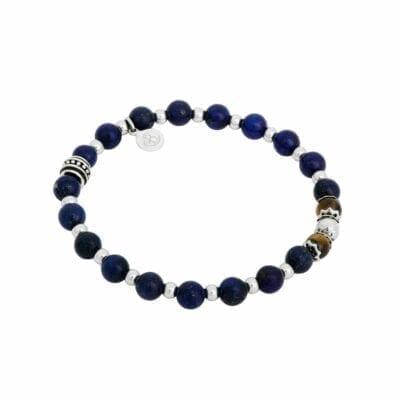 By Billgren – Beadsarmband lapis lazuli/tigeröga