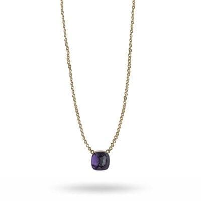 Snö of Sweden – Hatt pendant halsband, purple