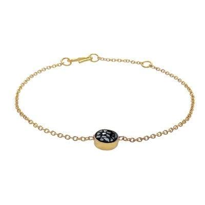 Baumgarten Di Marco – Diamond Double Circle armband, guld