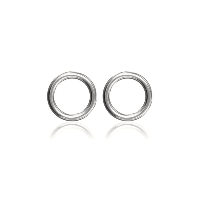 Circle-studs-Rodium-pläterad-silver-Sophie-by-Sophie-R