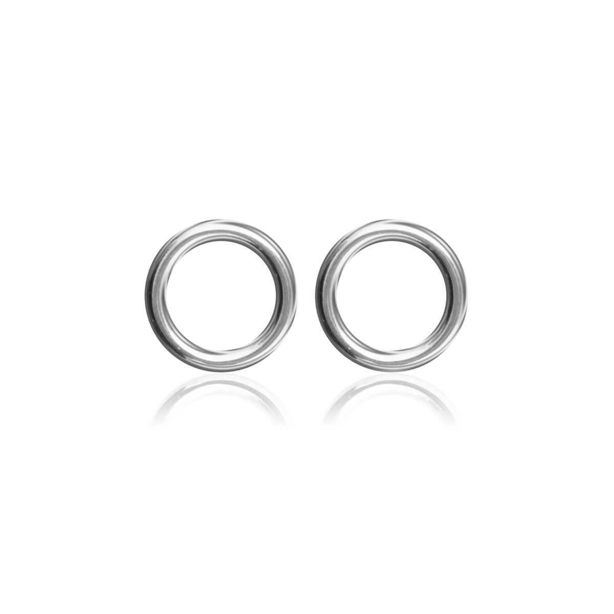 Circle-studs-Rodium-pläterad-silver-Sophie-by-Sophie-R