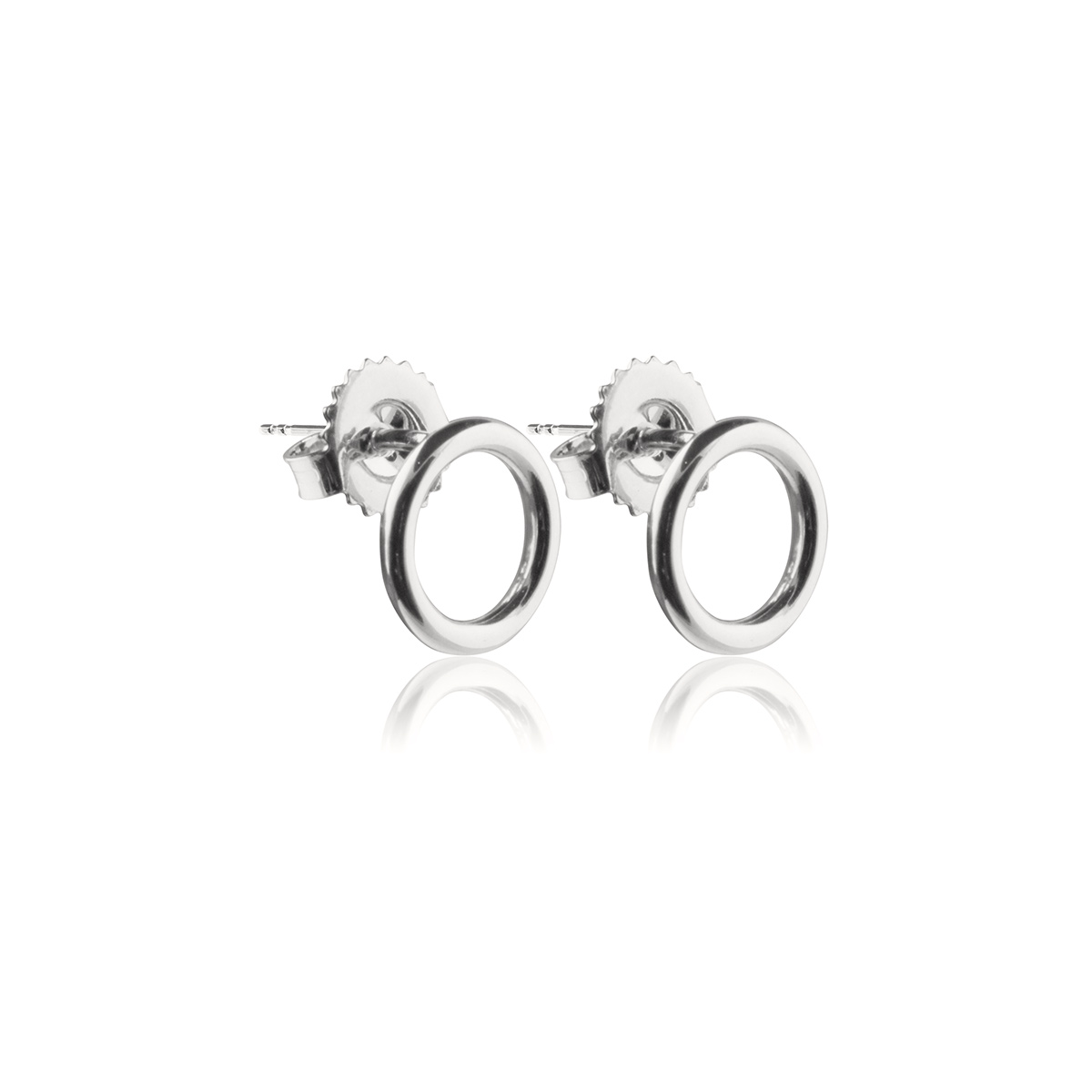 Circle-studs-Rodium-pläterad-silver-Sophie-by-Sophie-Side-R
