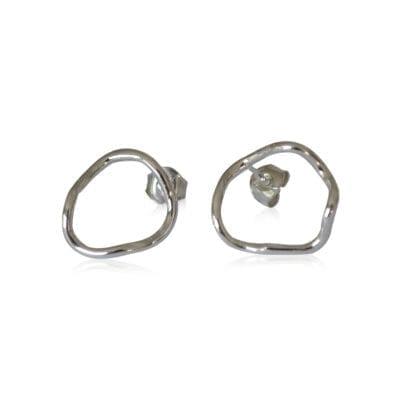 Design Lena W – Heartbeat örhängen, silver