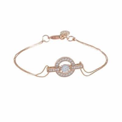 Snö of Sweden – Elaine chain armband, rosé