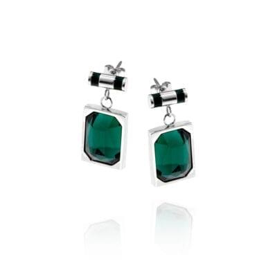 Ingnell Jewellery – Esmeralda örhängen, stål