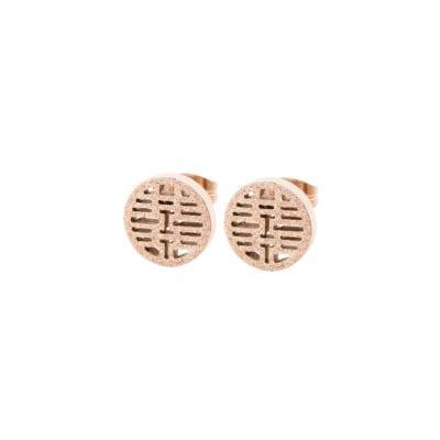 Ingnell Jewellery – Filippa stud örhängen, rosé
