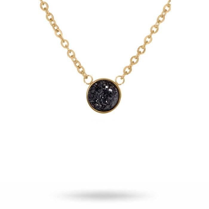 Iza-necklace-gold-black