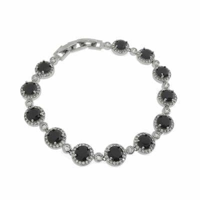 By Jolima – Sienna Multi crystal armband, svart