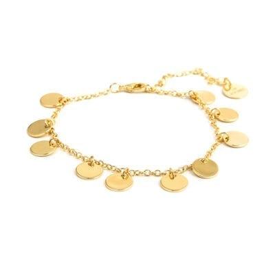 By Jolima – Spinn Coin armband, guld