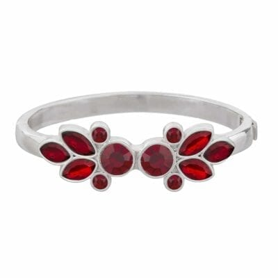 Snö of Sweden – Laurie oval armband, rött