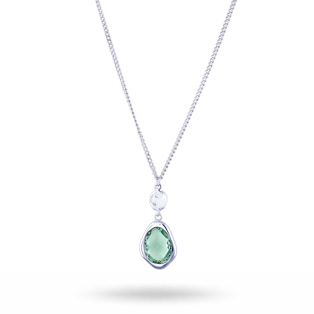 Long-necklace-silver-green